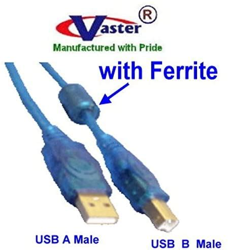 40 Pcs / Pack 3 Ft USB2.0 Cable, USB2.0 Scanner, Printer, Hub, Modem & Enclosure Cable, with Ferrite