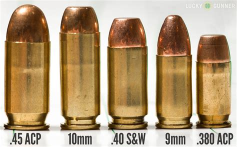 40 9mm 10mm 45 Acp Comparison