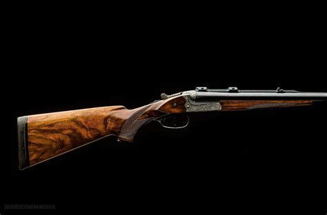 416 Rigby Double Barrel Rifle And Antique Hexagon Barrel Rifle