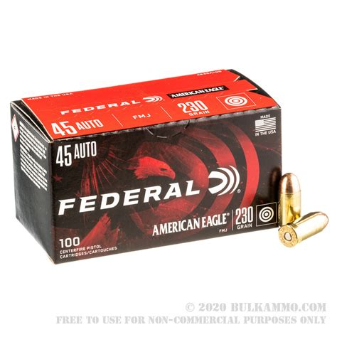 45 Acp Ammo By Federal 230gr Fmj And 45 Auto Frangible Ammo