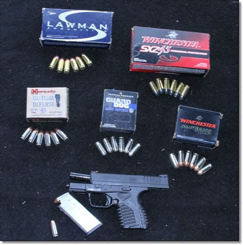 45 Acp Ammo Fire In Springfield Xds