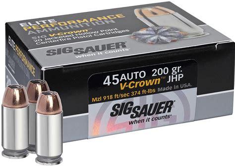 45 ACP Auto Ammo Handgun Sig Sauer AmmoSeek Com