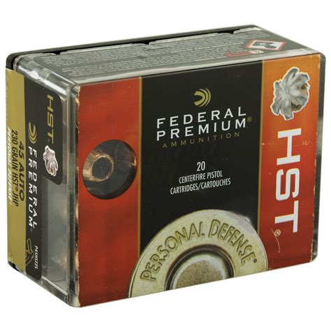 45 Acp Federal Hst 230 Gr Ammo For Sale