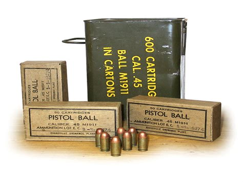 45 Acp Military Ball Ammo Specs