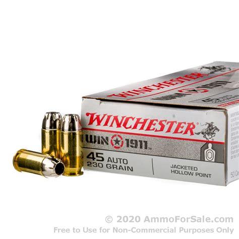 45 Acp Winchester Win 1911 230gr Jhp Ammo Ammo To Go