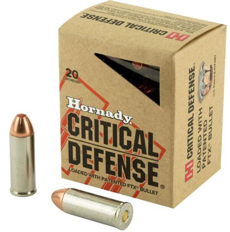 45 Colt 185 Gr Ftx Critical Defense Hornady