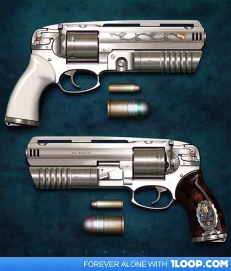 454 Caliber Handgun With Grenade Launcher