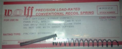 49022 Wolff 1911 Officers 22lb 45acp Recoil Spring Factory And Mauser Sporter Stock Ebay