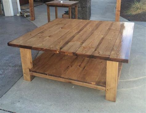 4x4 Coffee Table Diy Plans