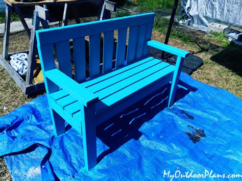 4x4-Outdoor-Bench-Plans