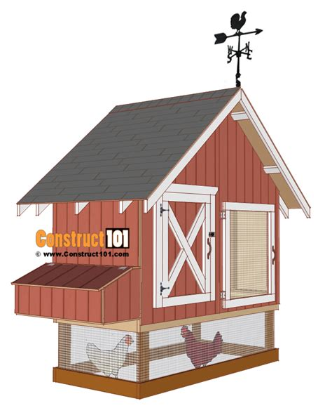 4x8 Chicken Coop House Plans Free