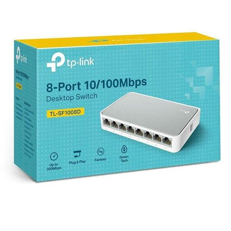 5 Port 10 100Mbps Green Switch Electronics Computer Networking