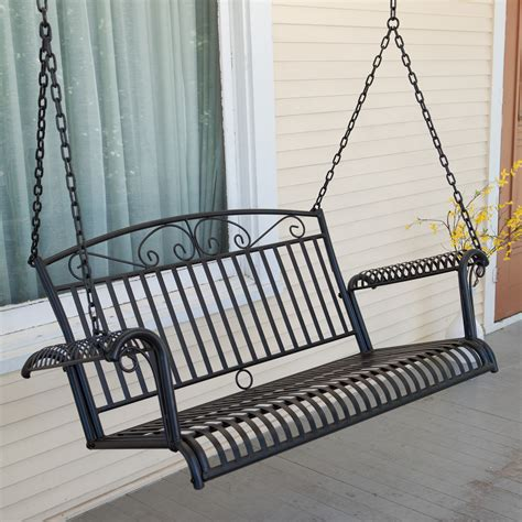 5 ft wrought iron porch swings Image