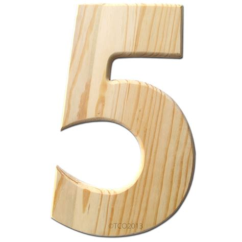 5 inch wood number 1 Image