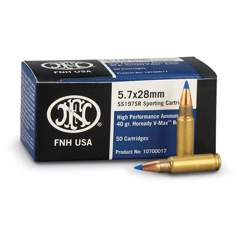 5 7x28mm 28-gr Lead Free FN SS195LF Ammo 50 Rds - The Armory