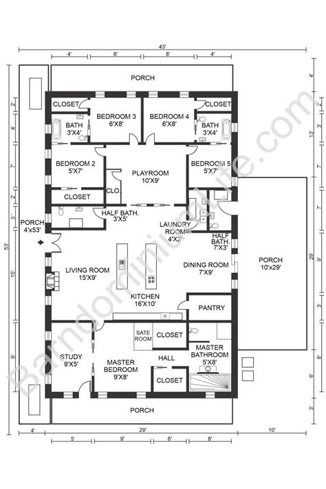 5-Bedroom-Barn-House-Floor-Plans