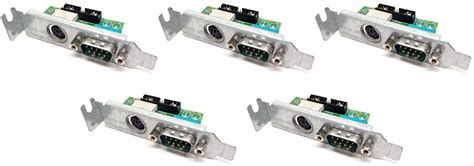5-LOT Genuine Dell Y9001 Optiplex GX620 745 SFF Low Profile Serial PS2 I/O Panel Board Compatible Part Numbers: Y9001, T4444
