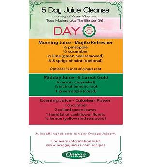 5 Day Juice Cleanse Weight Loss Recipes