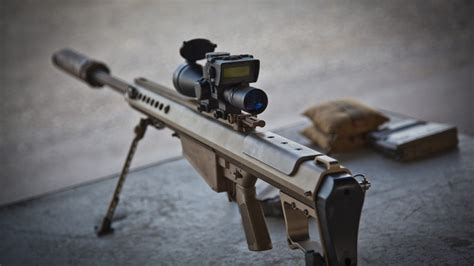 50 Cal Sniper Rifle With Scope
