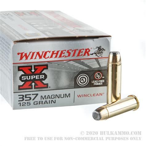 50 Rounds Of 125gr JSP 357 Mag Ammo By Winchester