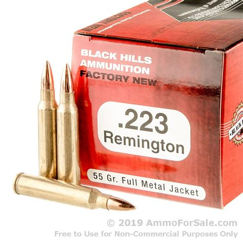 50 Rounds Of 223 Ammo By Black Hills Ammunition - 68gr