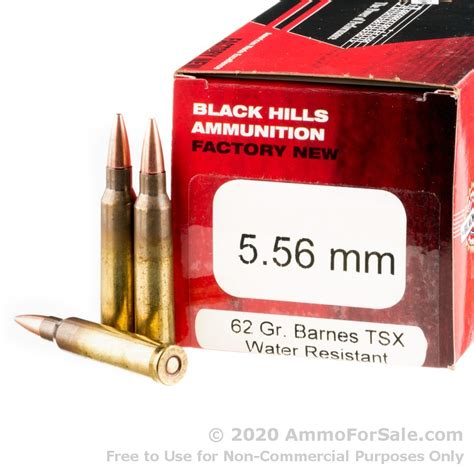 50 Rounds Of 62gr Tsx 5 56 Ammo By Black Hills Ammunition