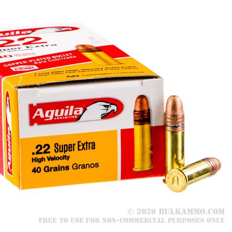 50 Rounds Of Bulk 22 Lr Ammo By Aguila 40gr Cprn