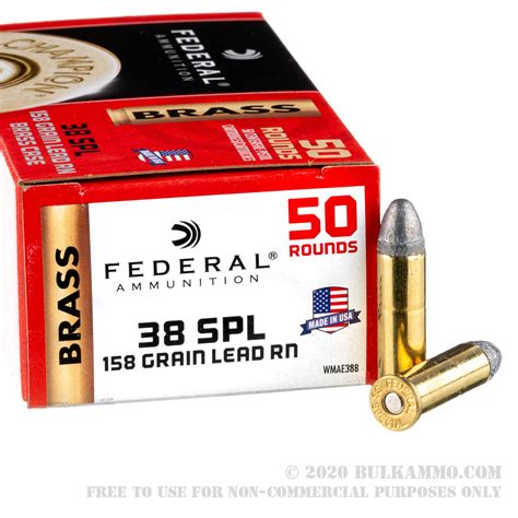 50 Rounds Of Bulk 38 Spl Ammo By Federal 158gr Lrn And Accurate Mag Remington 700 Bottom Metal Magazine Brownells
