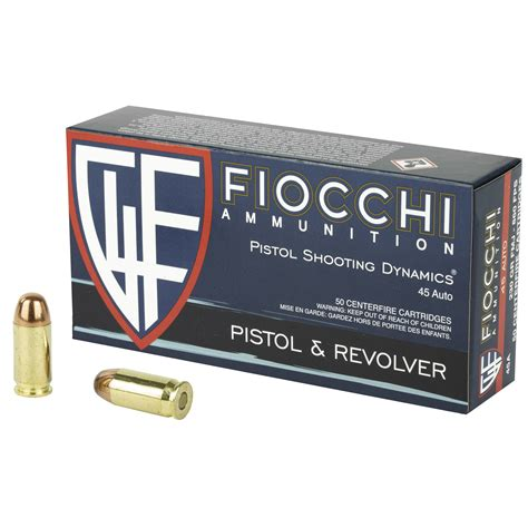 50 Rounds Of Bulk 45 ACP Ammo By Fiocchi Shooting