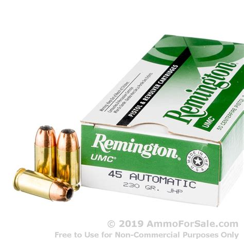 50 Rounds Of Bulk 45 ACP Ammo By Remington - 185gr MC