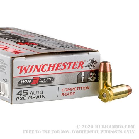 50 Rounds Of Bulk 45 Acp Ammo By Winchester Superx