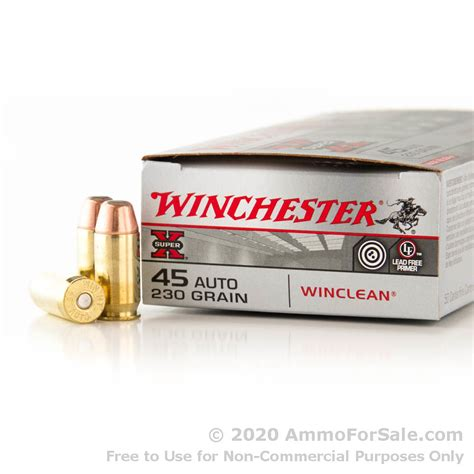50 Rounds Of Discount 230gr Beb 45 Acp Ammo For Sale By