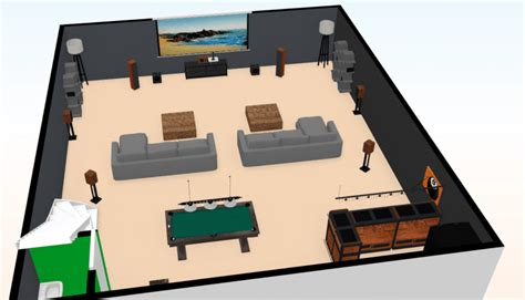 500 Sq Ft Man Cave Plans