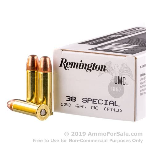 500 Rounds Of 130gr MC 38 Spl Ammo By Remington