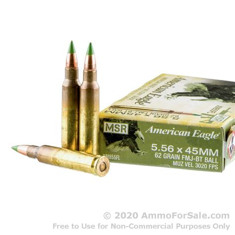 500 Rounds Of 5 56x45 Ammo By Federal American Eagle