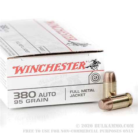 500 Rounds Of Bulk 380 ACP Ammo By Winchester - 95gr BEB