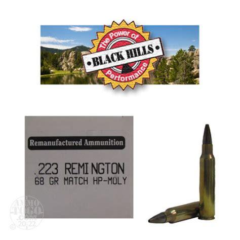 50rds 223 Black Hills 68gr Heavy Match Hollow Point Ammo