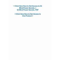 Best 52 mind power secrets online