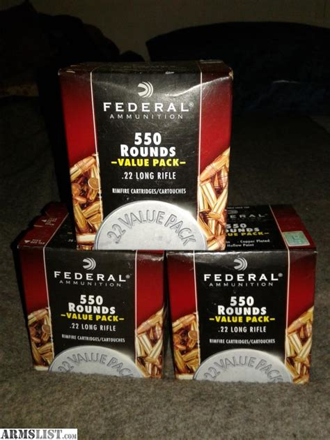550 Rounds 22 Ammo For Sale