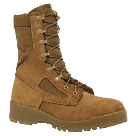 551 Hot Weather Steel Toe Coyote Tan 8' Combat Boot, Made in USA
