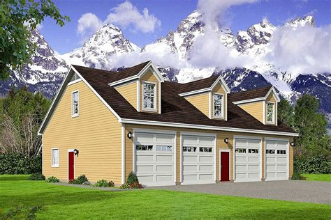 6 Car Tandem Garage Plans With Office Above