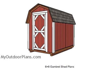 6 X 8 Gambrel Shed Plans