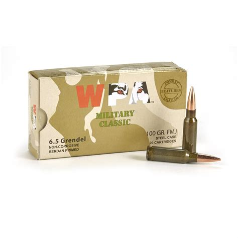 6 5 Grendel 100 Gr Fmj Wolf Military Classic 500 Rounds
