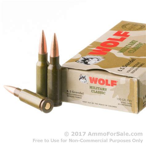 6 5mm Grendel Ammo 100gr Fmj Wolf Wpa Military Classic 500