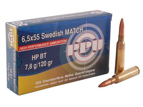 6 5x55mm Swedish Mauser 120gr Open Tip Match 50 Box