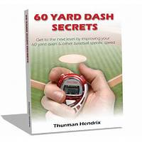 Cash back for 60 yard dash for baseball players hot niche, little competition