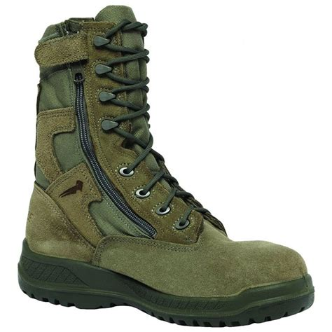 610Z Men's Hot Weather Side-Zip Green Olive Leather Boots