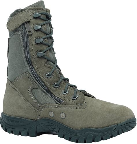 612Z Hot Weather Side Zip Tactical Boot, Sage Green