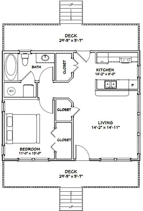 656 Sq Ft 1 Bedroom 1 Bath House Plans