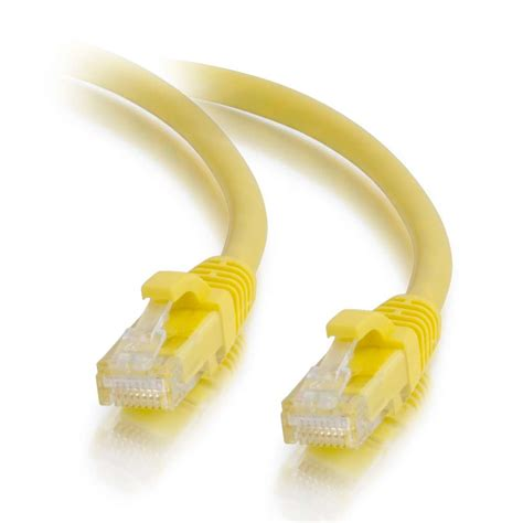 6ft Molded Boot Cat5e Yellow Ethernet Patch Cable ( 10 PACK ) BY NETCNA